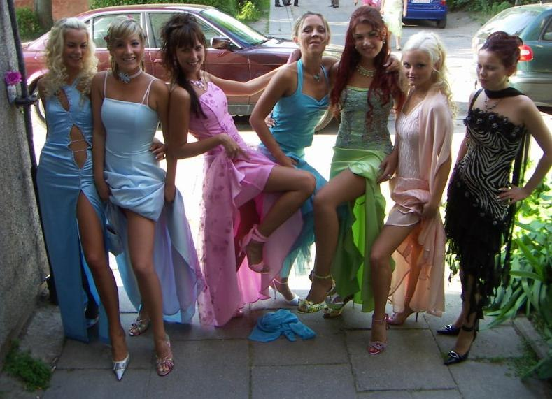 Порно в платье выпускной русское