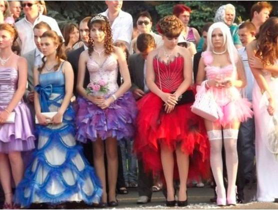 Неудачные платья на выпускной