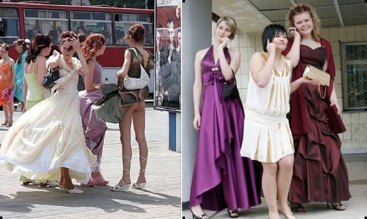 Неудачные платья на выпускном