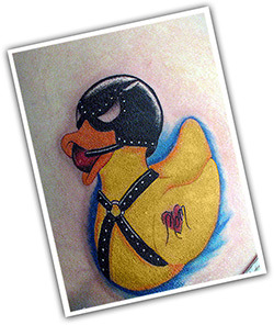 BDSM-tattoo-duck