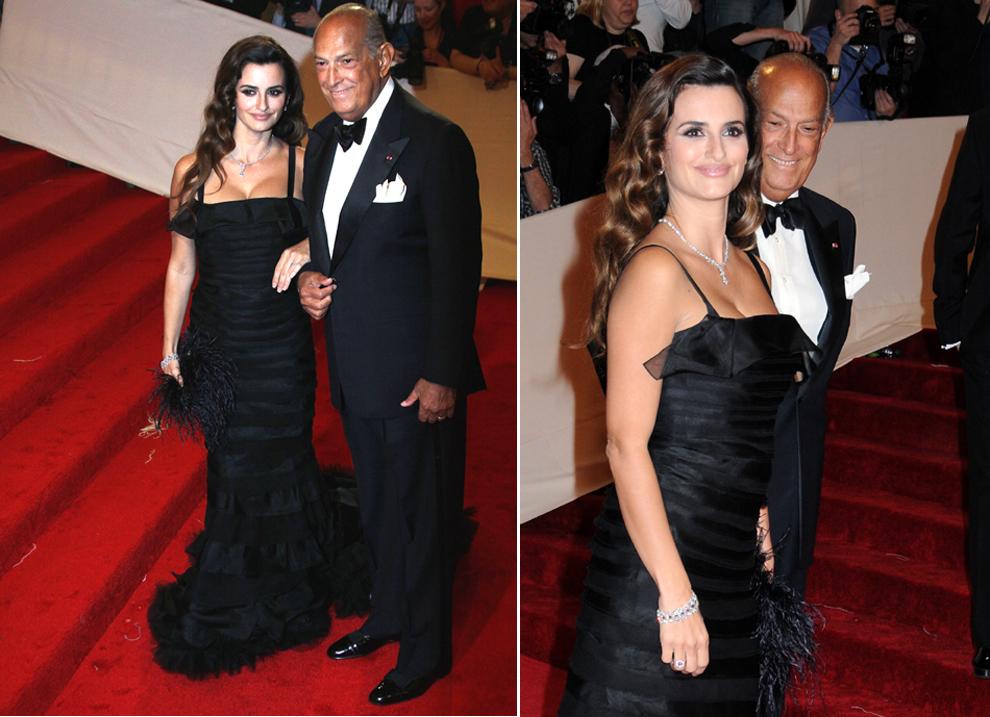 Пенелопа Крус и Оскар де ла Рента. Это платье он сшил специально для нее