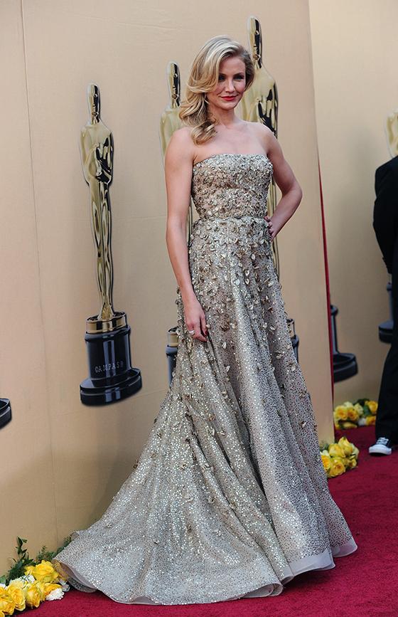 Камерон Диас на Оскар-2010 в платье от Оскар де ла Рента