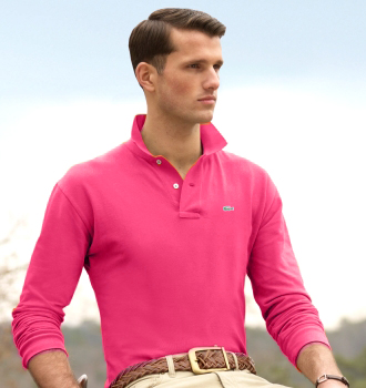 Lacoste-Men-Long-Classic-Polo-Magenta-Pink