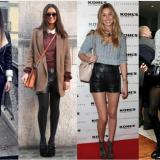 как носить кожаные шорты знаменитости
