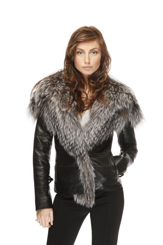 Меховая Женская Кожаная Куртка Купить В