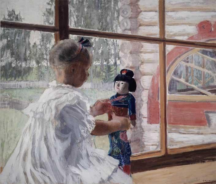 кустодиев японская кукла 1908 фото