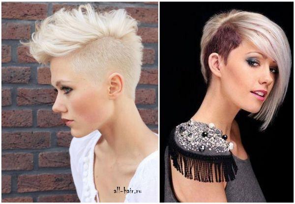 Женские стрижки на короткие волосы с выбритым виском фото