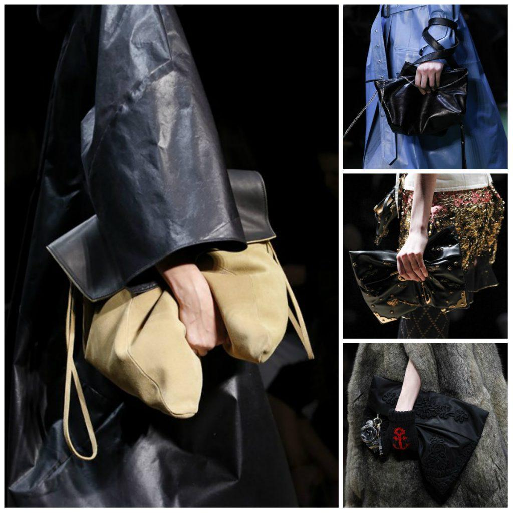 модные мягкие сумки в обхват рукой фото