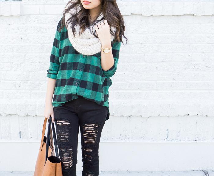 justatinabit-madewell-oversize-buffalo-check-shirt-plaid-shirt-forever21-infinity-scarf-fall-outfit-4