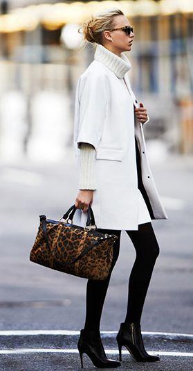 белое пальто с укороченными рукавами с чем сочетать фото блондинка