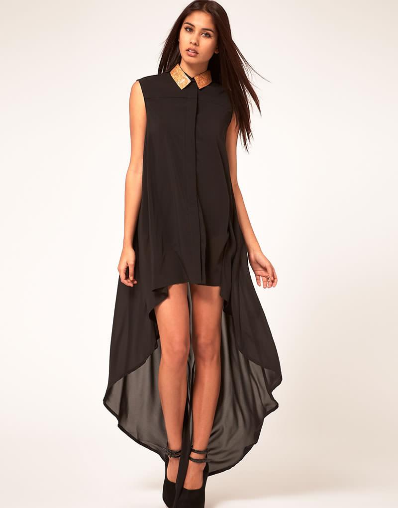 черное платье рубашка с чем носить фото