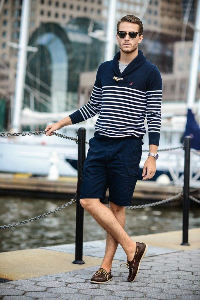 shawl-neck-sweater-crew-neck-t-shirt-shorts-boat-shoes-sunglasses-watch-original-9038