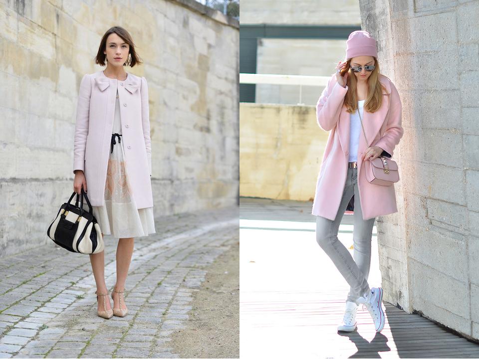 розовое пальто оверсайз фото