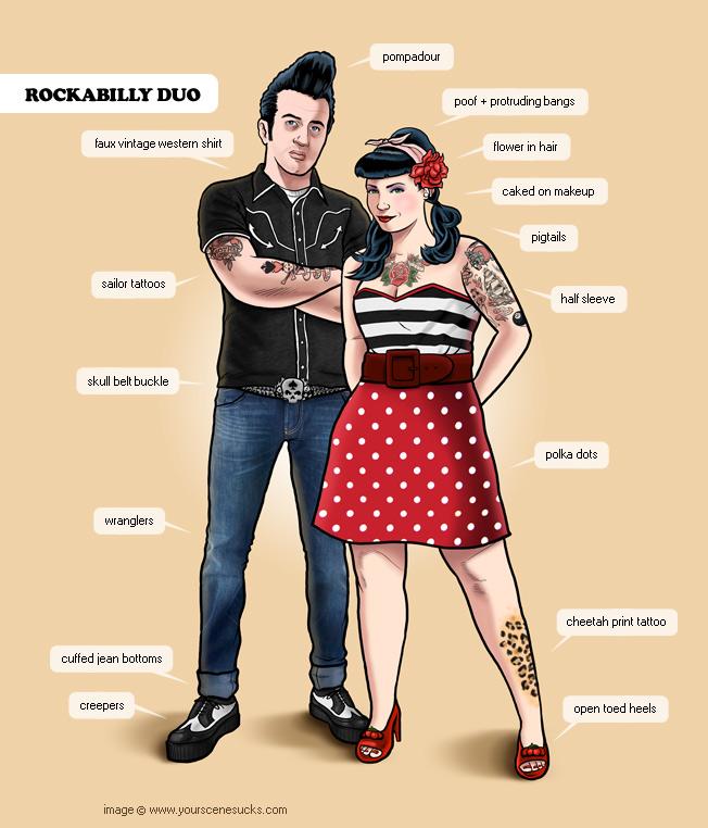 пара в стиле рокабилли фото
