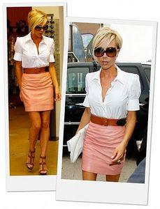 белая рубашка и мини-юбка фото