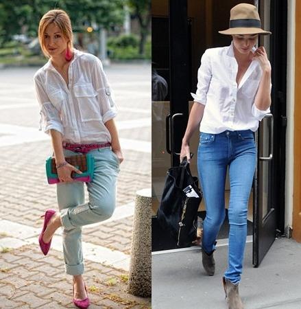 fde078faf940 Белая рубашка – основа стиля: модные луки (фото) | Журнал Estemine