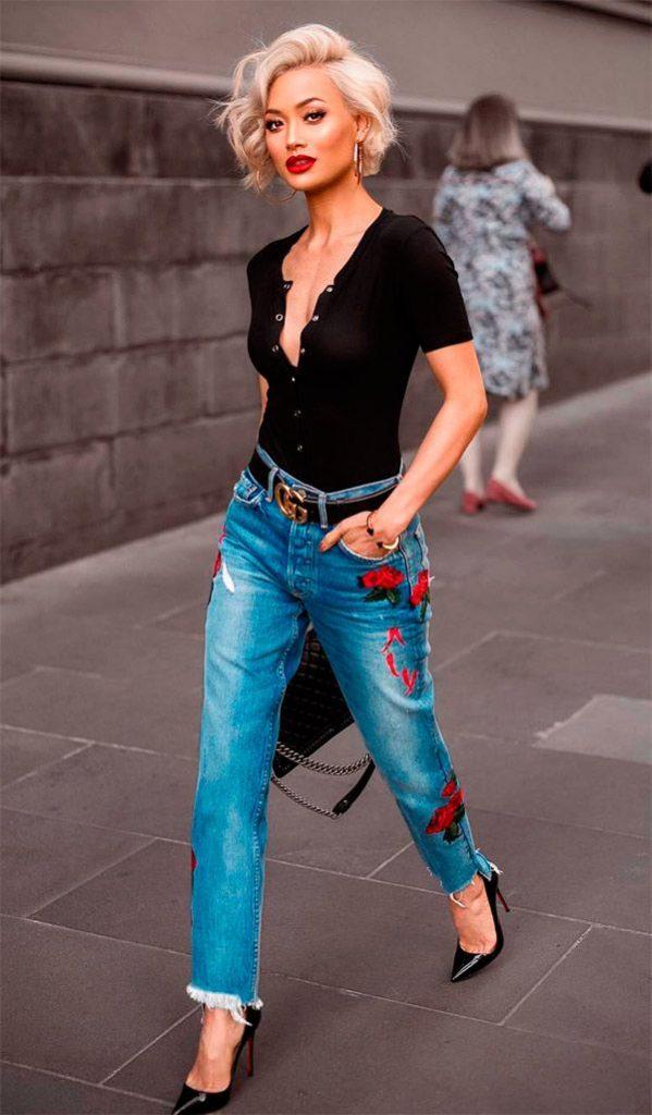 2842b29d11db777 Модные женские джинсы осень 2017: фото, обзор   Журнал Estemine